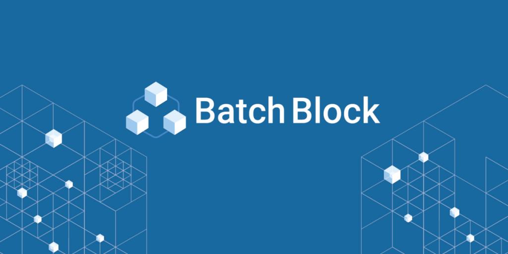 BatchBlock a Blockchain Startup